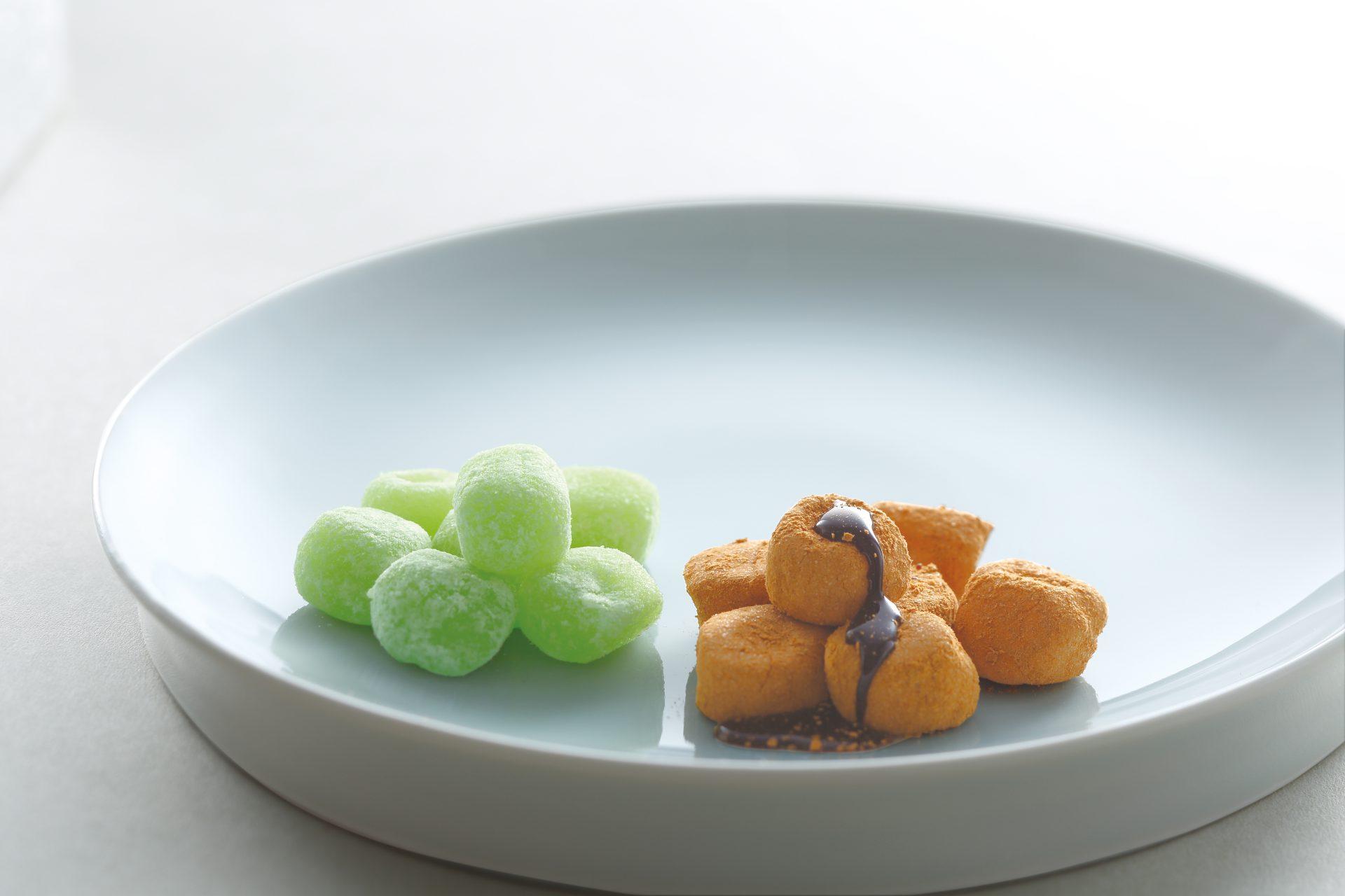 きなこ餅/柚子羽二重