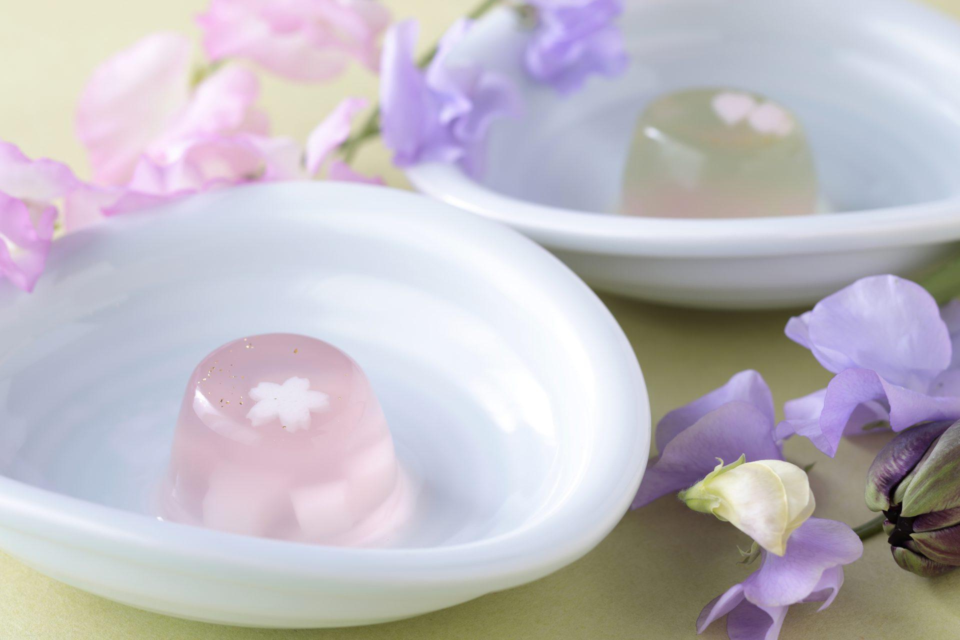 桜ゼリー桜ひらり(ぶどう/もも)